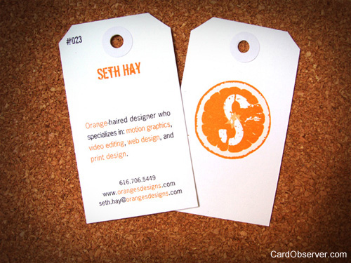 Custom Business Card Seth