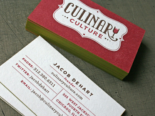 Culinary Culture - Business Cards Design