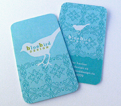 Blue Bird Business Card Design