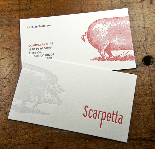 Letterpress Double-Sided Business Cards Design