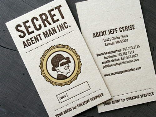 Secret Agent Man - Business Card Design