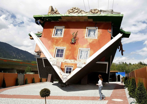 Upside Down House in Austria - Interesting Pictures