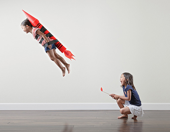 Creative Dad Takes Crazy Photos Of Daughters