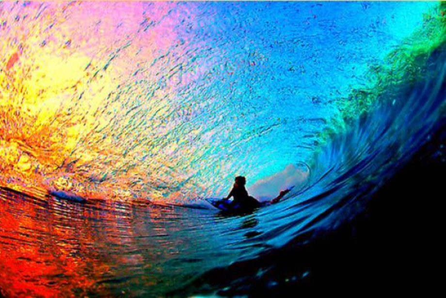 Sunset Through a Wave - Interesting Pictures