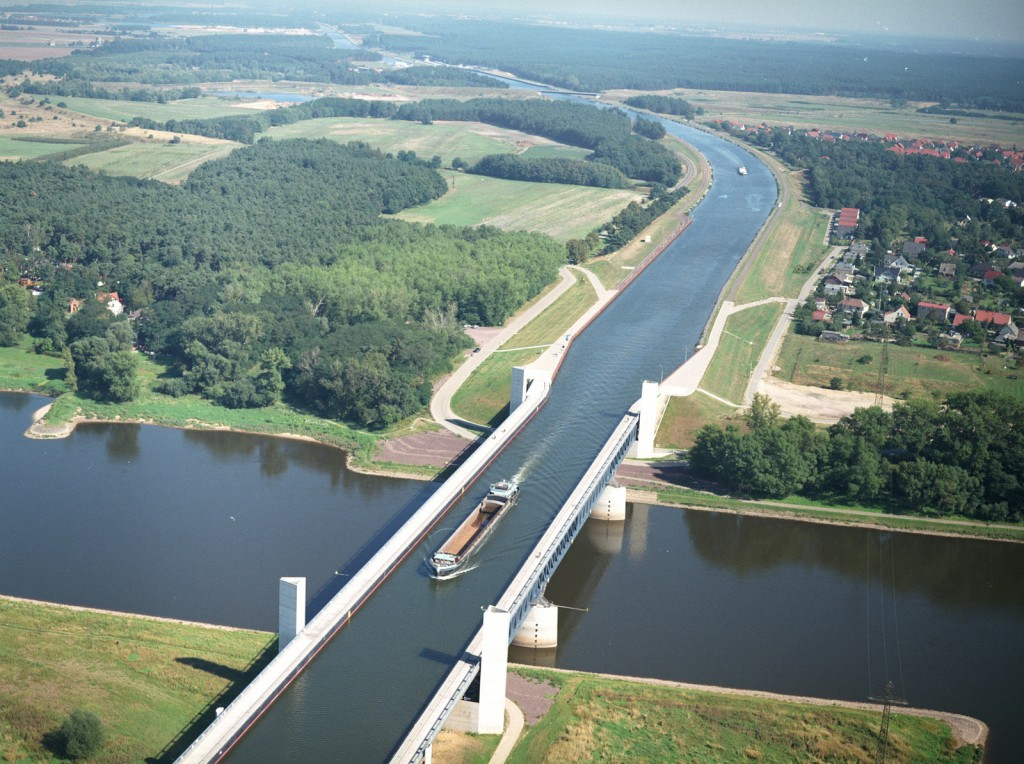 Magdeburg Water Bridge - Interesting Pictures