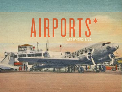 Airports Postcard Design