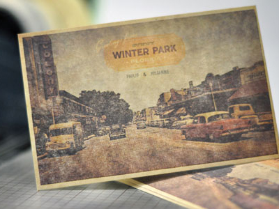 Winter Park - Postcard Design