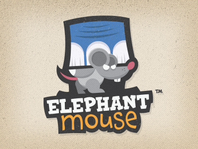 Elephant Mouse Sticker Design