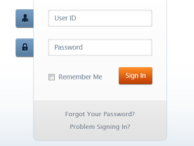 Web Login Form Design