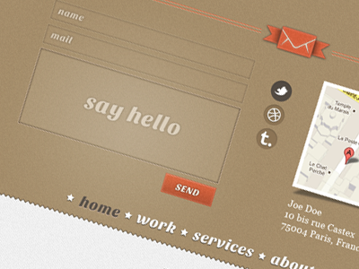 Contact Web Form Design