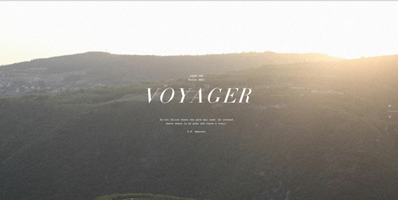 Voyager - Wide Website Design