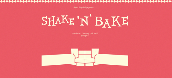 Shake 'N' Bake - Wide Website Design