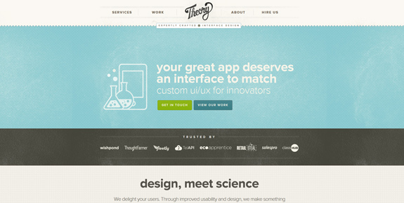 Theory - Wide Website Design