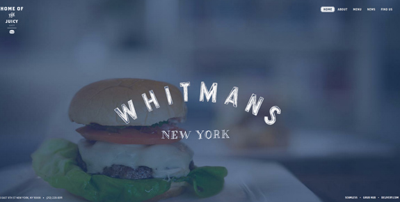 Whitmans - Wide Website Design