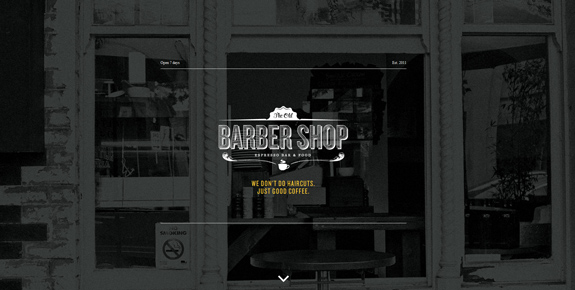 Old Barber Shop - Wide Website Design