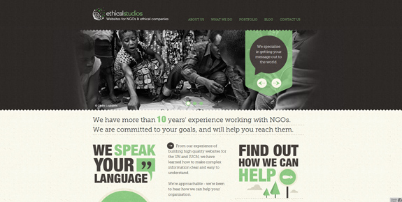 Ethical Studios - Wide Website Design