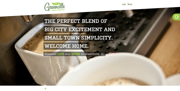 Life in Green Ville - Wide Website Design