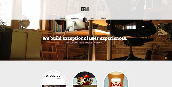 Demi - Wide Website Design