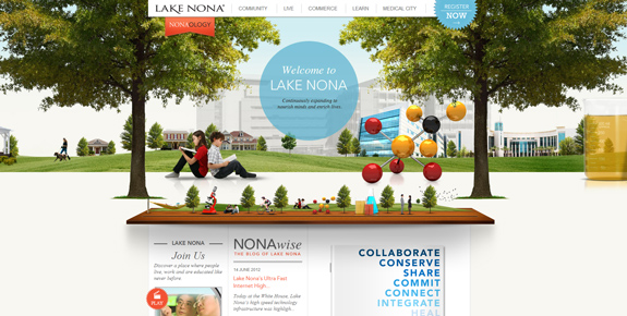 Lake Nona - Wide Website Design