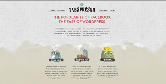 Tabspresso - Wide Website Design