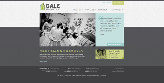 Gale - Wide Website Design