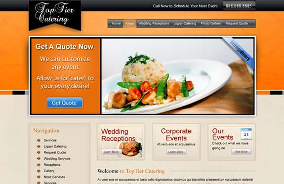 Free PSD Website Template for Restaurant
