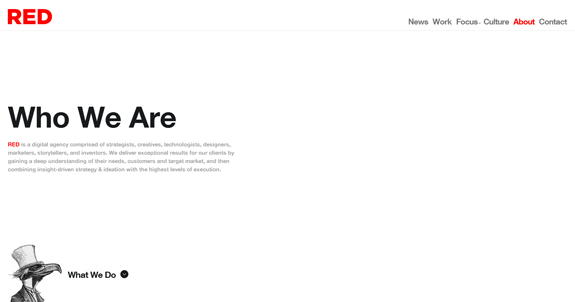 Red Interactive - Minimal Web Design