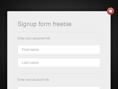 sign up form template 08 30 Sign Up Form Designs and Templates
