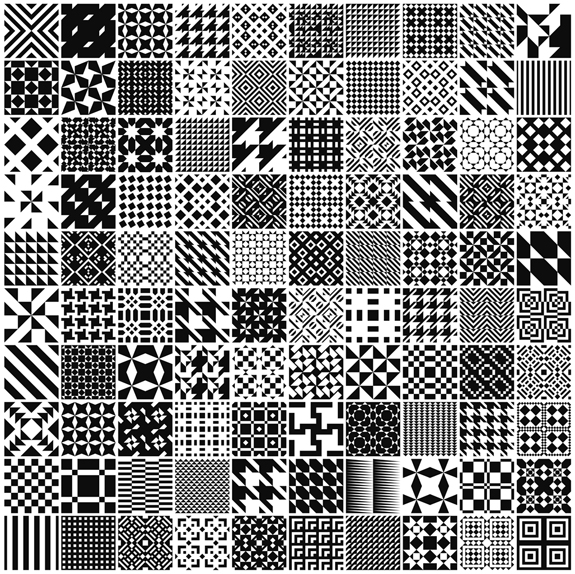 100 Free Monochrome Geometric Patterns