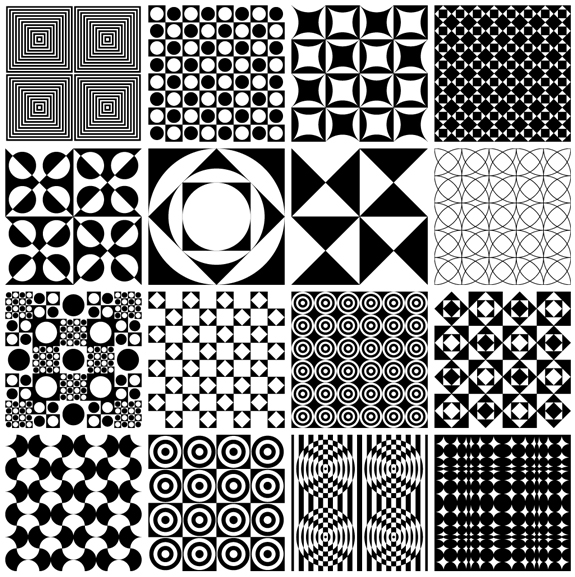 16 Free Vector Panton Patterns