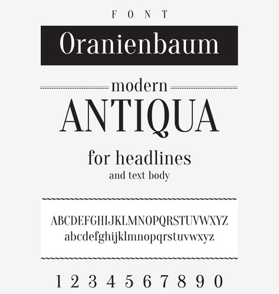 Oranienbaum - New Free Fonts
