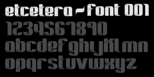 Etcetera - New Free Fonts