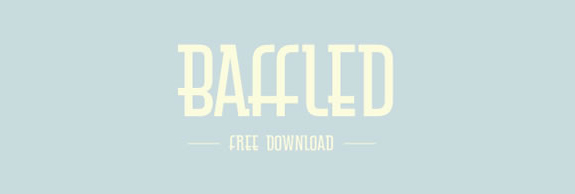 Baffled - New Free Fonts