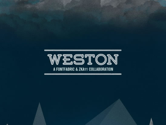 Weston - New Free Fonts