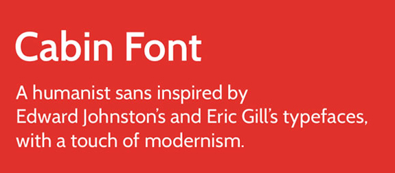 Cabin - New Free Fonts