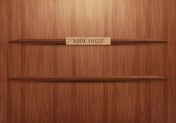 Bookshelf - PSD Template