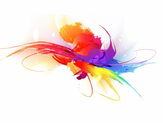 Abstract Colorful Splash Illustration