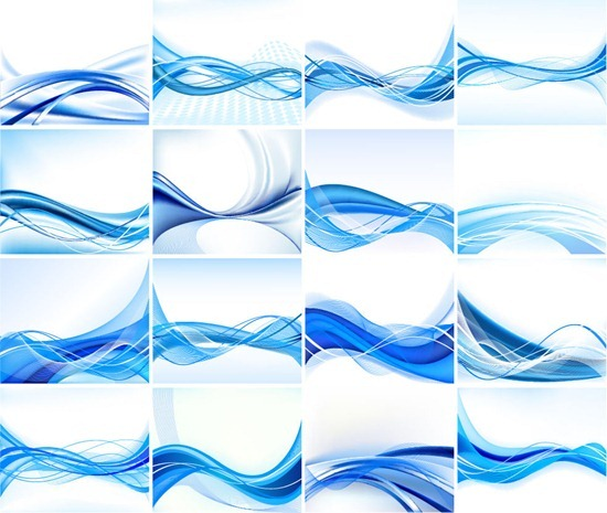 Abstract Blue Design Background Vector Set