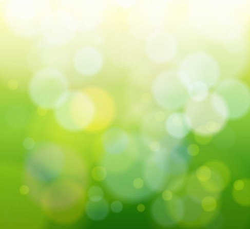 Abstract Green Bokeh Light Background Vector Graphic