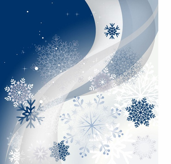 Winter Background Vector Graphic