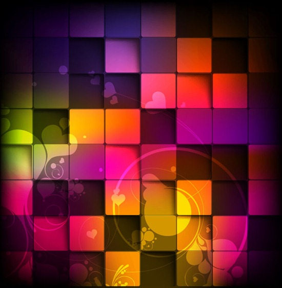 Colorful Squares Vector Background