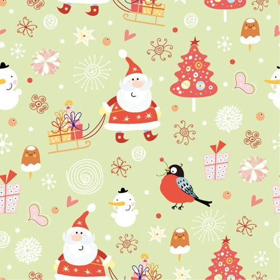 Santa Claus Pattern Seamless Background Vector