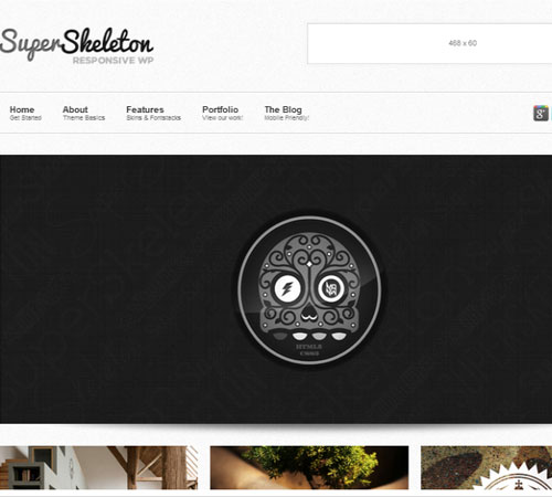 Super Skeleton WP: Responsive, Minimal, Beautiful