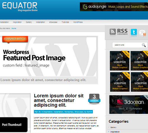 14 eQuator 20+ Responsive Magazine WordPress Themes