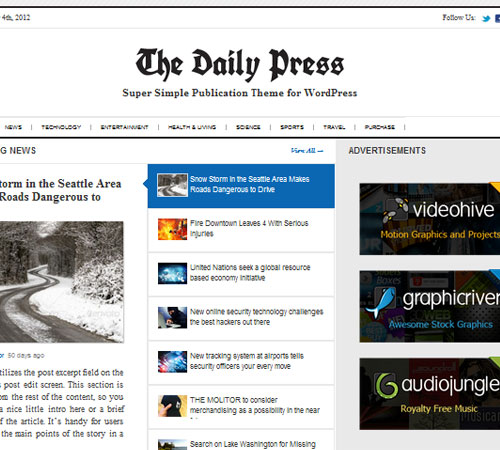 16 Daily Press 20+ Responsive Magazine WordPress Themes
