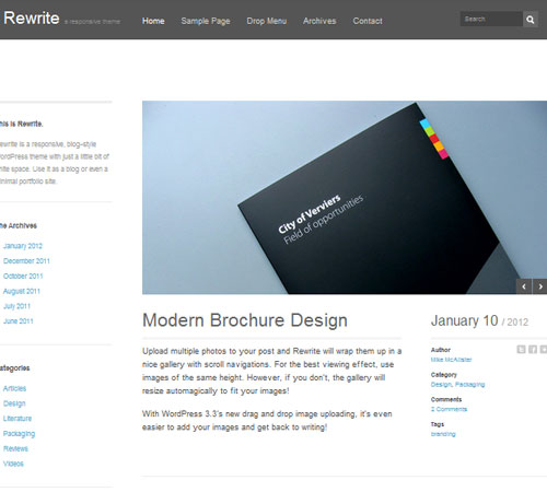 17 Rewrite 20+ Responsive Magazine WordPress Themes