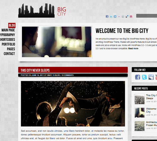 3 Big City 20+ Responsive Magazine WordPress Themes