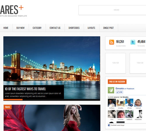 5 Ares 20+ Responsive Magazine WordPress Themes