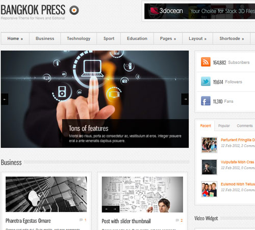 7 Bangkok Press 20+ Responsive Magazine WordPress Themes