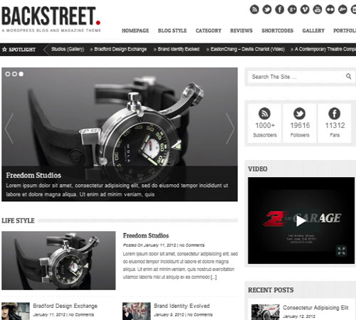9 Backstreet 20+ Responsive Magazine WordPress Themes